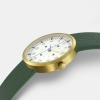 OPTIMEF GOLD green leather
