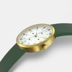 OPTIMEF GOLD green leather