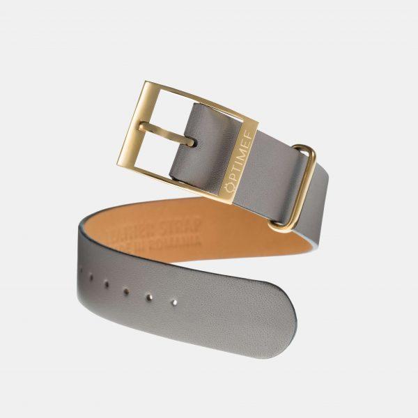 Optimef Victoria grey leather