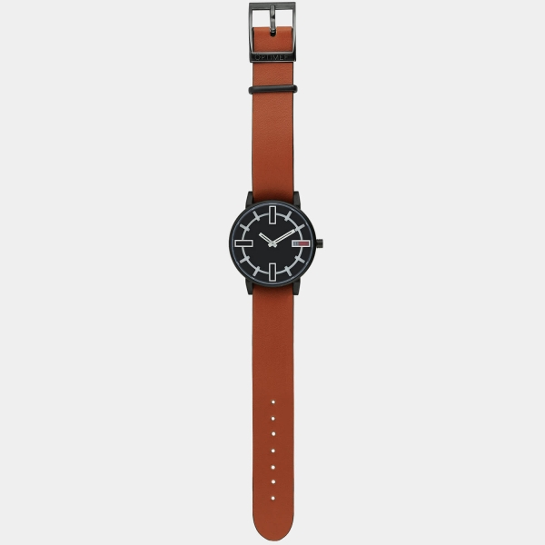 Optimef Victoria Black-rust leather