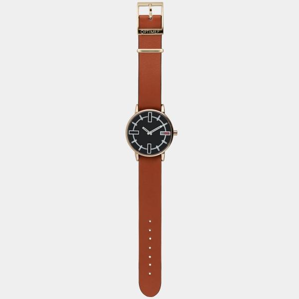 Optimef Victoria Copper-rust leather