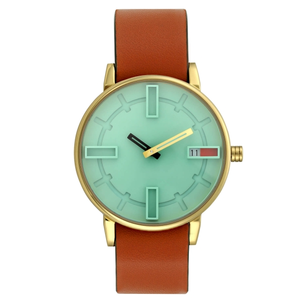 Optimef Victoria Neo Mint-rust leather