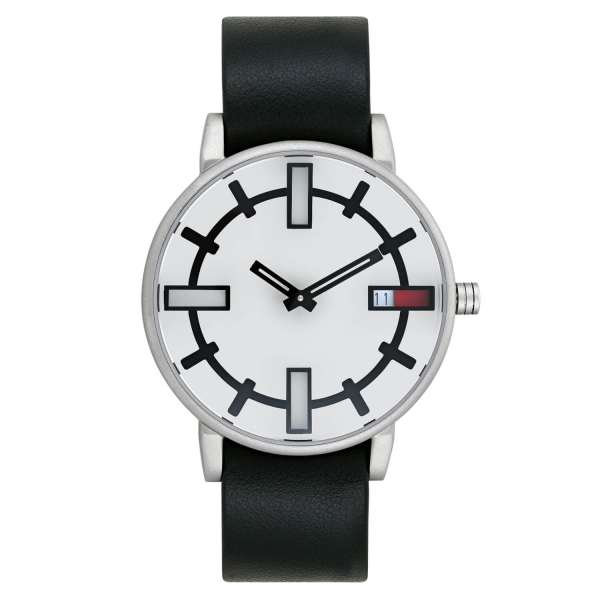 Optimef Victoria Silver-black leather